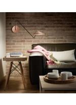 Aplique de pared orientable en cobre satinado regulable - Nón Lá - Bover