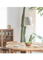 Lámpara colgante de cerámica y cuero LED en 2 acabados 3000K – Cowbell – Plussmi