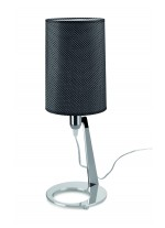 Lámpara de mesa en acero cromo con pantalla de tela - Eve - Pujol Iluminación