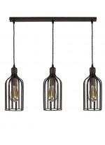 Lámpara colgante con 3 luces estilo industrial – More – Artesanía Joalpa