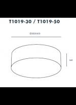 Plafón de techo blanco disponible en dos tamaños – Tamb – Aromas