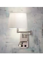 Aplique de pared con lector orientable y pantalla - Aram  - ACB Iluminación