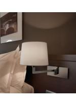 Aplique de pared decorativo en cromo con pantalla cotonet blanco – Basik – Bover