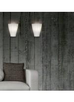 Aplique de pared de cristal de doble capa en 2 medidas - Bella - ACB Iluminación