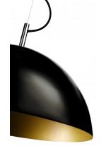 Lámpara colgante con pantalla negra con interior naranja - Basic - Pujol Iluminación