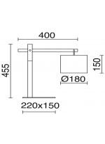 Lámpara de mesa de acero y madera – Britta – Exo – Novolux
