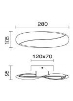 Aplique de pared y techo de aluminio blanco LED 3000K - Ribbon - Exo - Novolux