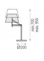 Lámpara de sobremesa en metal cromo y pantalla de algodón - Elba - ACB Iluminación