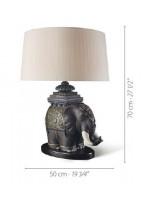 Lámpara de mesa de porcelana – Elefante de Siam – Lladró