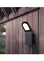 Aplique de pared de exterior color antracita IP54 LED 3000K - Castello - Dopo - Novolux