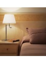 Lámpara de mesa de acero sin pantalla - Eda - Exo - Novolux