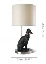 Lámpara de mesa de porcelana – Galgo pensativo – Lladró