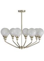 Lámpara colgante de latón con 8 luces circulares Ø 65 cm – Dinko – Artesanía Joalpa