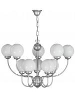 Lámpara colgante de metal acabado Plata y 10 luces – Zorita – Artesanía Joalpa