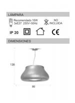 Lámpara de techo con pantalla fabricada en film pvc en 3 colores - Peggy - IDP Lampshades