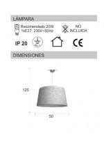 Lámpara colgante con material imitación potro 50 cm - África - IDP Lampshades