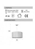 Lámpara de techo en 2 colores Ø 50 cm - Arenal Plata - IDP Lampshades
