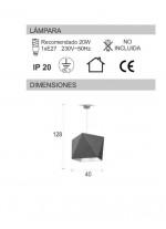 Lámpara de suspensión geométrica verde - Origami - IDP Lampshades