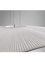 Lámpara colgante con 1 o 2 pantallas fabricadas con cinta translúcida blanca o crema – Mediterrània – Bover