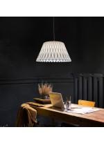 Lámpara colgante regulable con pantalla de madera natural en varios colores – Lola – Lzf