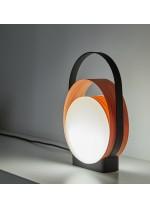 Lámpara de mesa moderna LED de madera natural – Loop – Lzf