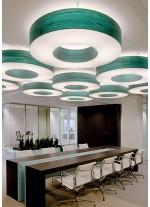 Lámpara de techo de madera natural en 11 colores regulable bluethooth/control Remoto - Saturnia - LZF