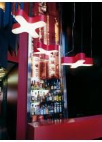 Lámpara de techo de madera natural regulable LED/Bluethooth/Dali disponible en 11 colores - X Club - LZF