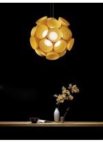 Lámpara de suspensión de madera natural en 10 Colores regulable Led Bluethooth - Dandelion - LZF