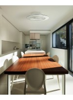 Plafón LED con ventilador disponible en dos colores con mando incluido – Alisio – Mantra Iluminación