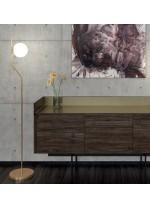 Lámpara de pie en metal oro viejo y cristal - Maui - ACB Iluminación
