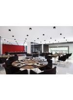 Aplique de techo de aluminio con acabado aluminio negro satinado 2700K - Mini Dau - Milan