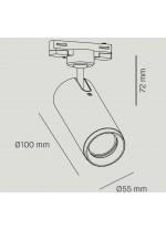Foco de techo de carril LED Ø 5.5 cm en 2 acabados y fuentes de luz orientable y regulable 2700K – Haul – Milan