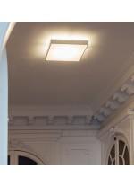 Aplique de techo LED de aluminio y vidrio en 3 tamaños y 2 acabados 2700K – Linea – Milan