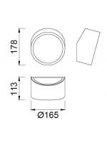 Aplique de pared para baño IP44 en 2 colores - Mini - Mantra