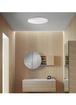 Aplique de techo para baño de metal y cristal de doble capa IP 44 en 3 tamaños – Moon – ACB Iluminación