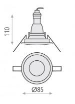 Empotrable de techo de metal blanco Ø 8.5 cm - Nork - ACB Iluminación