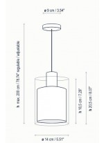 Lámpara de Suspensión de cristal en 2 acabados - Oliver - Bover