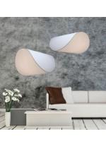 Lámpara colgante con pantalla textil en 3 colores - Olivia - IDP Lampshades