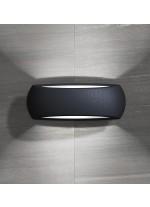 Aplique de pared para exterior de resina negra IP66 - Calm - Dopo - Novolux