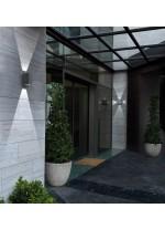 Aplique de pared de exterior de aluminio IP54 LED 6000K - Ufo - Dopo - Novolux