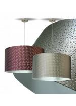 Lámpara colgante en 3 colores - Piel Troquelada - IDP Lampshades