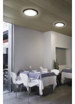 Plafón de techo LED redondo en cromo - Sol - Pujol Iluminación
