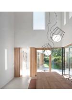 Lámpara colgante de metal y cristal LED en 2 acabados y 2 tamaños 3000K – Light & Plant – Plussmi