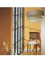 Lámpara colgante con pantalla de tres alturas en 5 colores Ø 60 cm - Planetario - IDP Lampshades