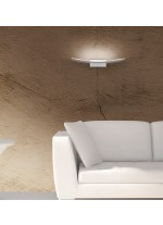 Aplique de pared decorativo LED de aluminio blanco en 2 tamaños 3200K - Pluma - ACB Iluminación