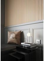 Lámpara de mesa LED en acero con bola cristal en varios acabados – Sunset – Pujol Iluminación
