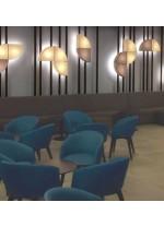 Aplique de techo y pared 100% coton en 2 colores - Quesitos - IDP Lampshades