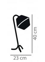 Lámpara de sobremesa estructura negra con pantalla de cotón color blanco – Ryan – IDP Lampshades