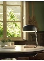 Lámpara de mesa estructura negro mate con base de mármol marrón – Marbre – Aromas
