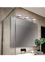 Aplique de pared LED de metal para baño con 3 luces 3200K IP 44 - Sara - ACB Iluminación